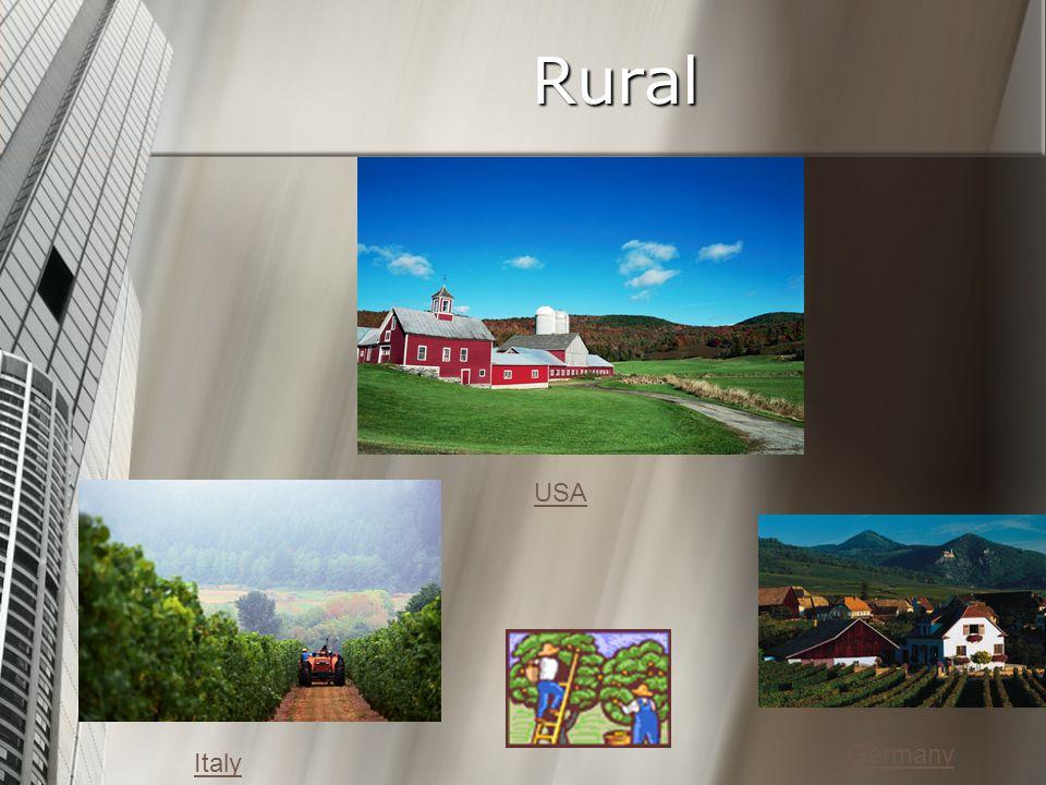 Rural Germany USA Italy