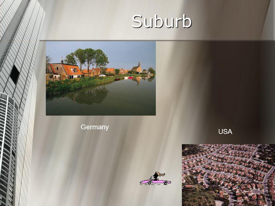 Suburb Germany USA