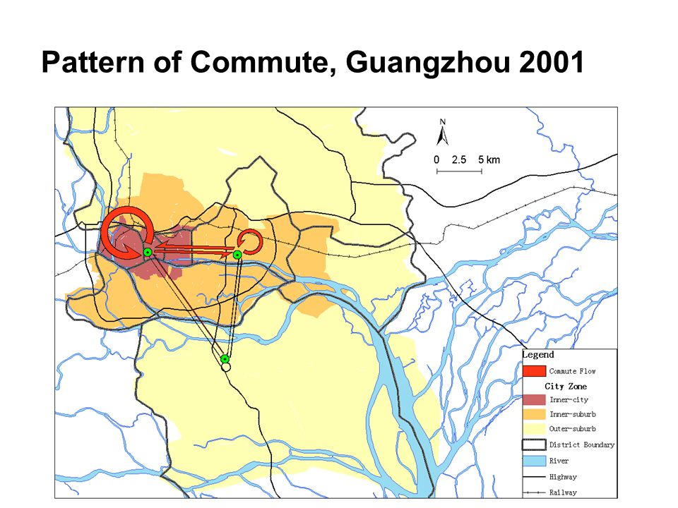 Pattern of Commute, Guangzhou 2001