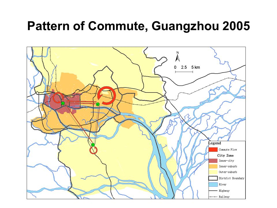 Pattern of Commute, Guangzhou 2005