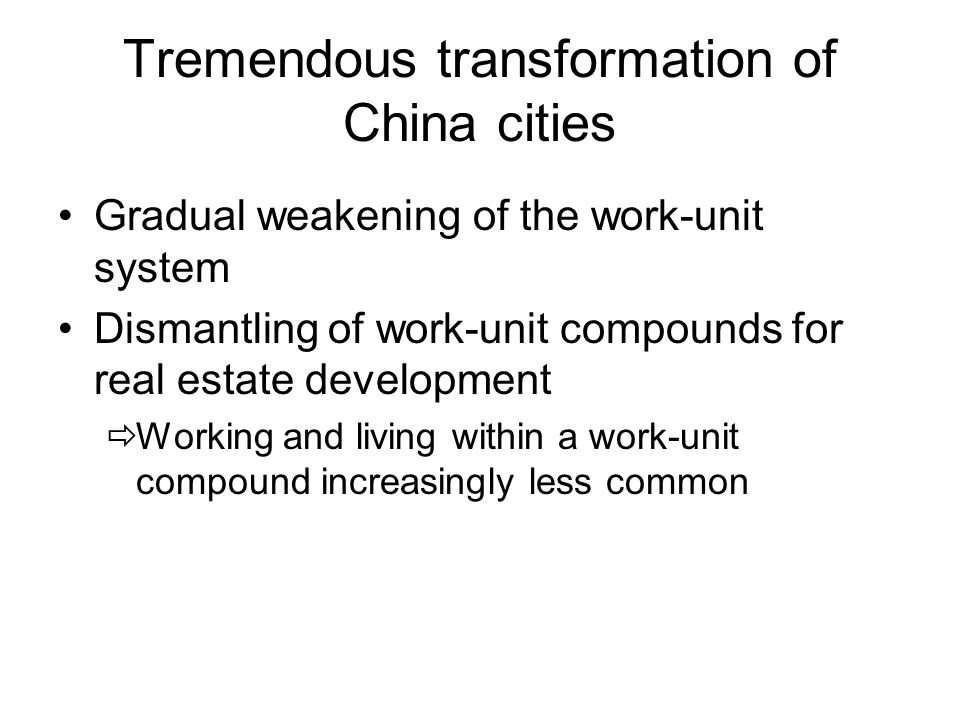 Pattern of Commute, Guangzhou 2001