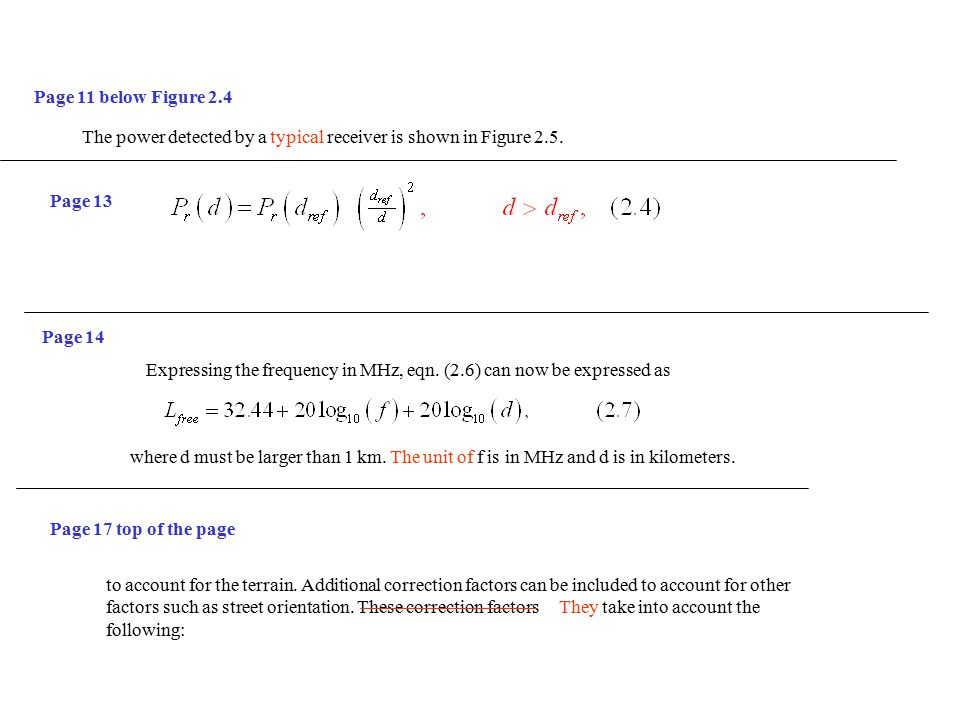 Page 11 below Figure 2.4 The power detected by a typical receiver is shown in Figure 2.5.