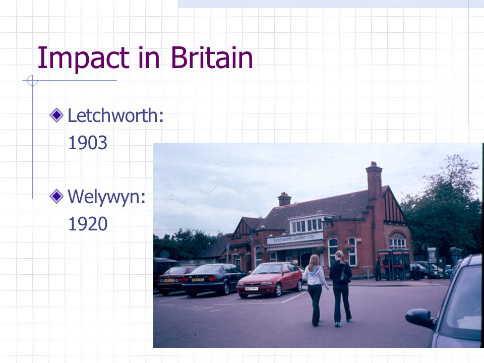Impact in Britain Letchworth: 1903 Welywyn: 1920