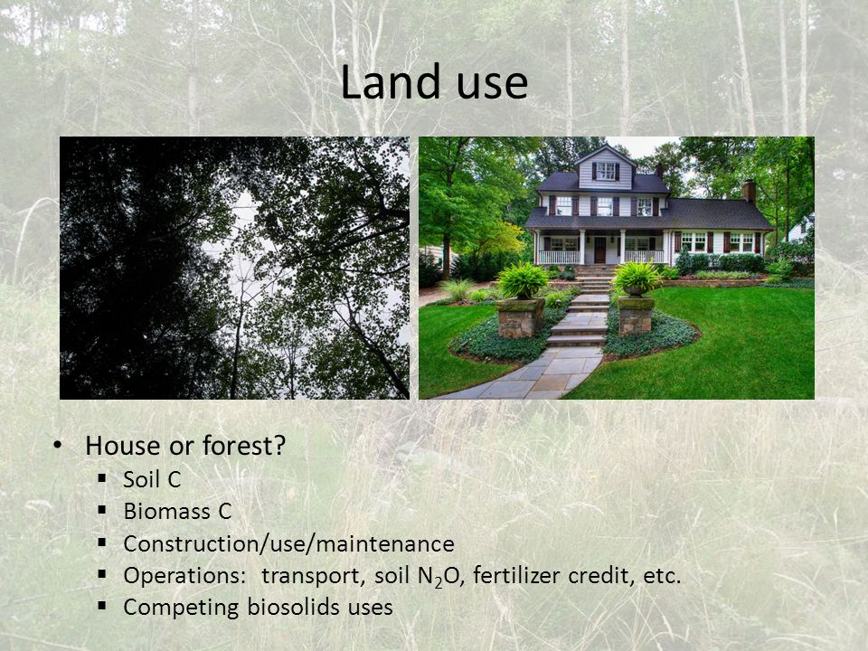 Land use House or forest.