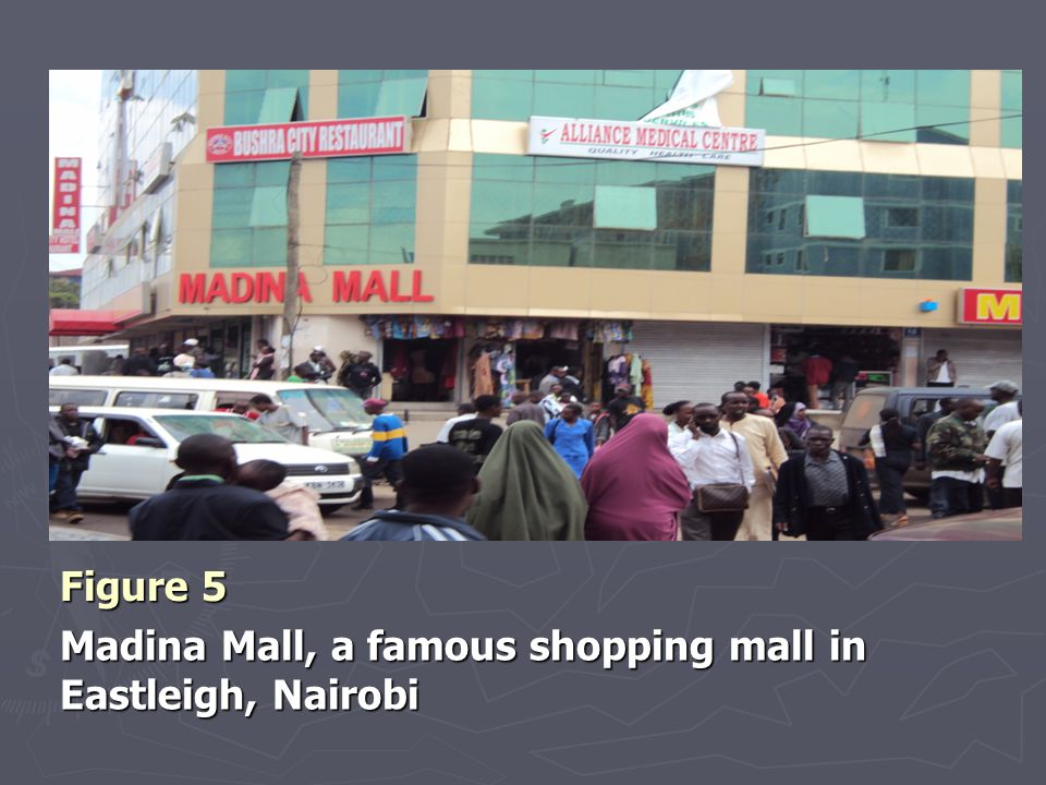 Figure 5 Madina Mall, a famous shopping mall in Eastleigh, Nairobi