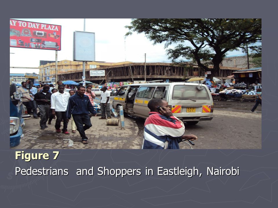 Figure 7 Pedestrians and Shoppers in Eastleigh, Nairobi