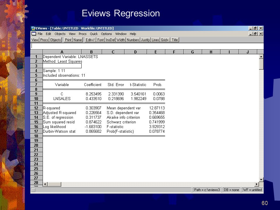 60 Eviews Regression