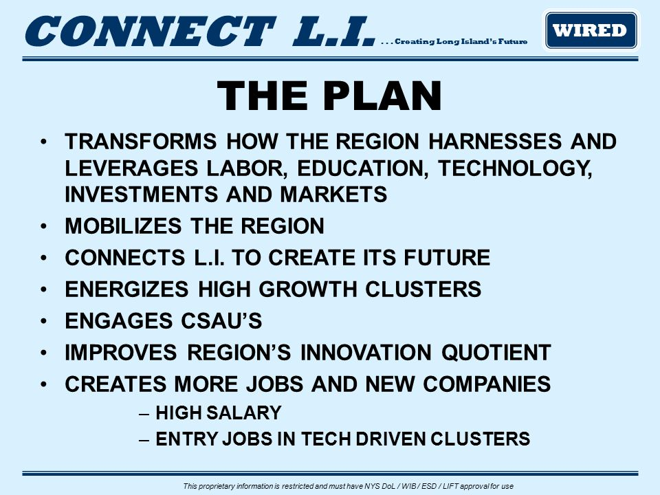 ... Creating Long Island's Future CONNECT L.I.