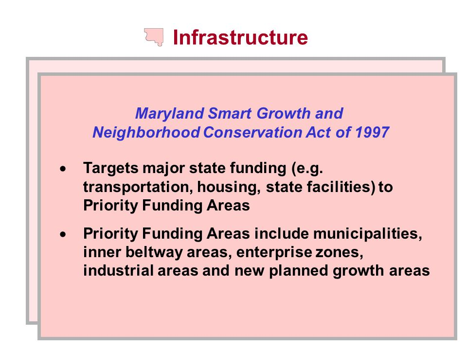 Infrastructure  Targets major state funding (e.g.
