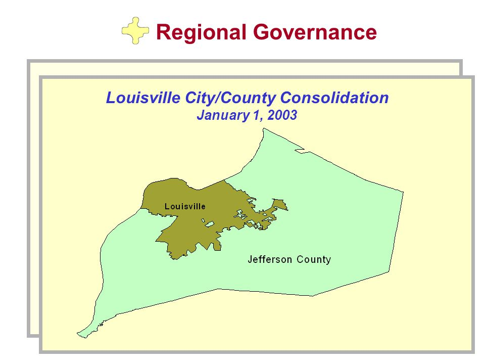 Louisville City/County Consolidation January 1, 2003 Regional Governance