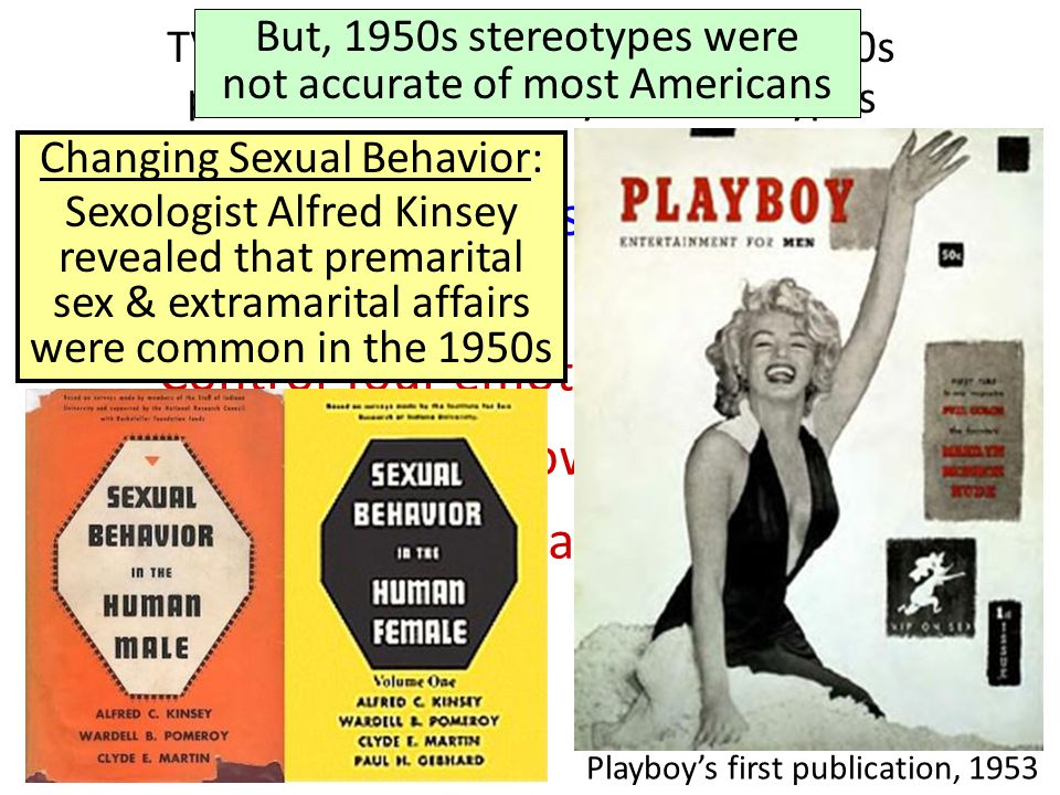 TV, movies, & advertising in the 1950s promoted conformity & stereotypes But, 1950s stereotypes were not accurate of most Americans Behavioral Rules o