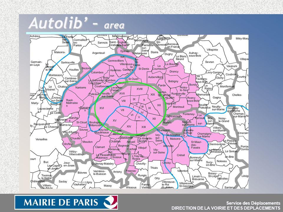 Service des Déplacements DIRECTION DE LA VOIRIE ET DES DEPLACEMENTS Autolib' – area