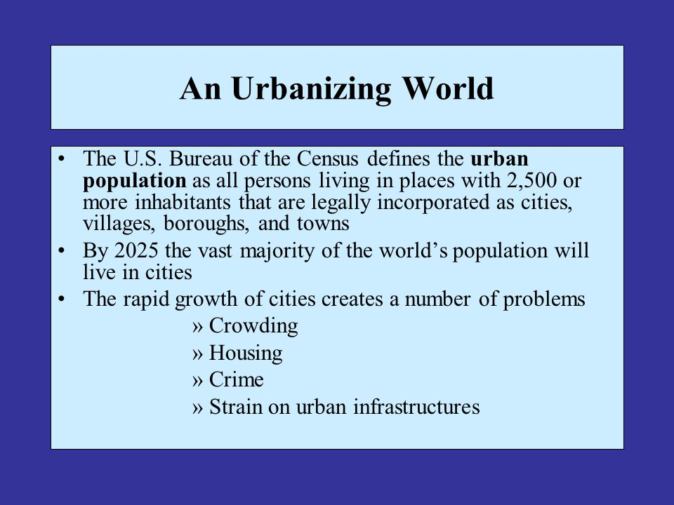 Decentralization Decentralization – flight of city dwellers and businesses to the suburbs 1920 – 1930, suburbanization 1954 – 1977, commercial stores and shopping malls Population migration from the Snowbelt cities of the North and East to Sunbelt cities of the South and West