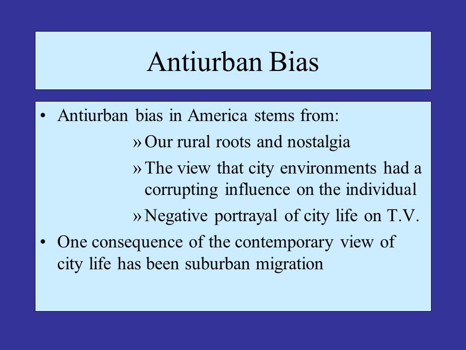 Metropolitan Growth Since 1983 U.S.Census classifies urban residents into three categories: 3.