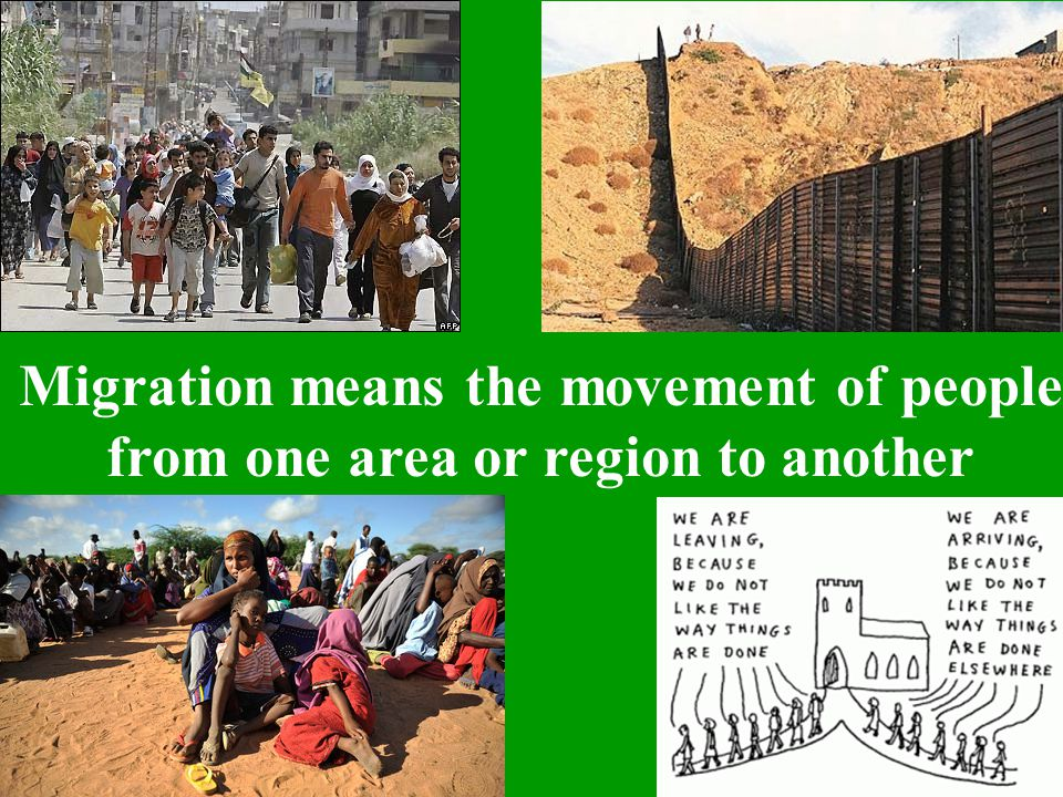 Rural-to-urban migration What does migration mean?