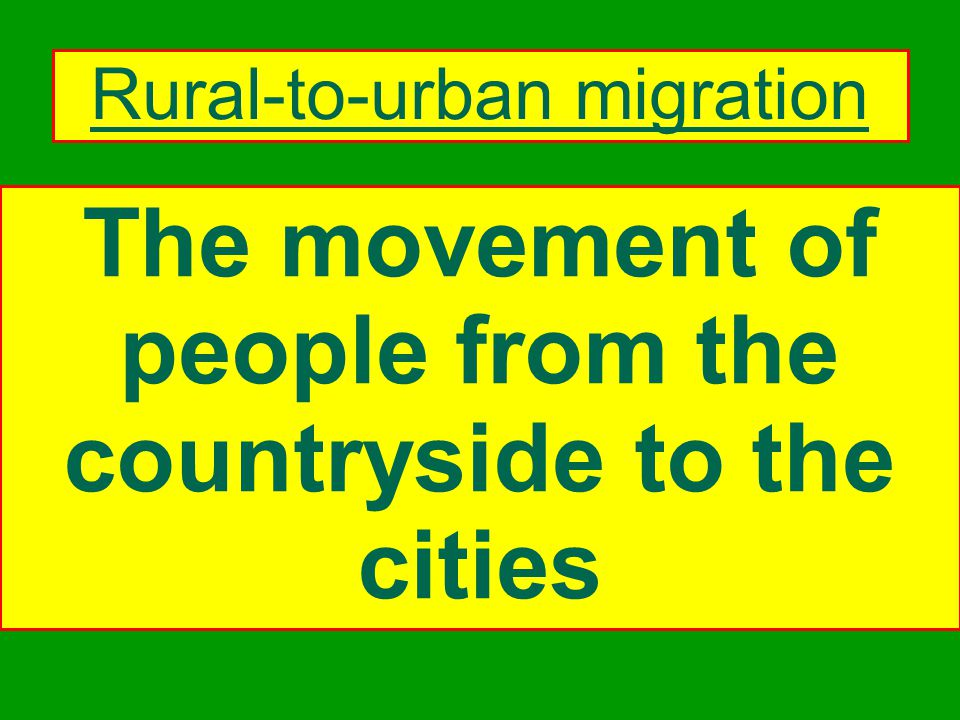 Migration means the movement of people from one area or region to another