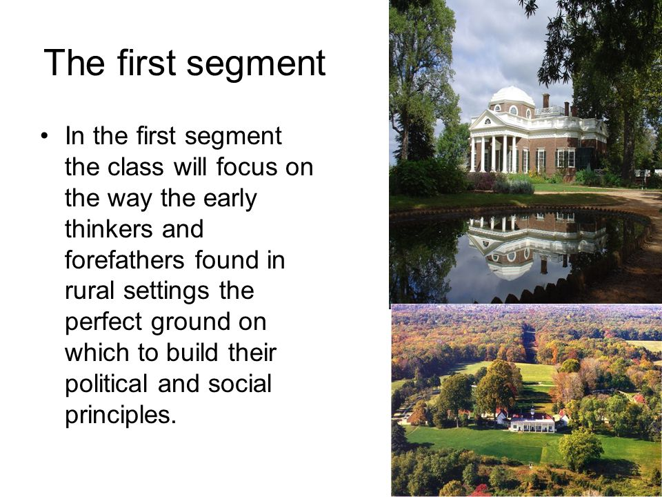 The second segment In this segment, the class will look at the urbanization of America and how certain factors such as immigration and industrialization shaped the American city.