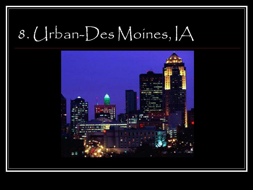 8. Urban-Des Moines, IA