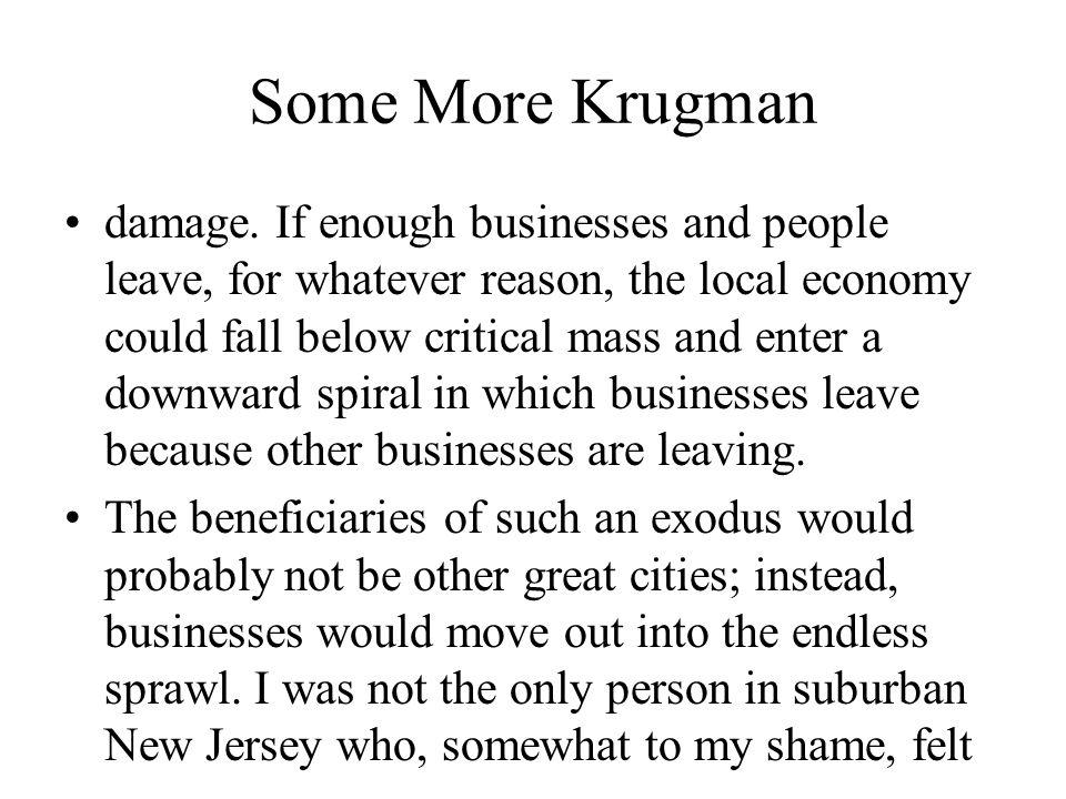 Some More Krugman damage.