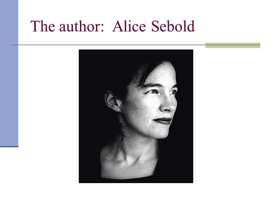 The author: Alice Sebold