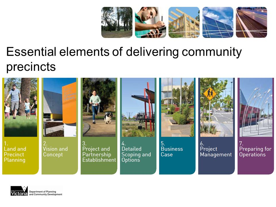 Essential elements of delivering community precincts