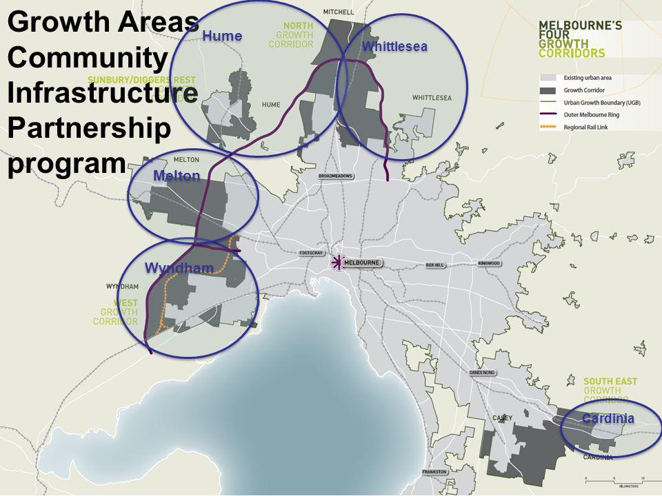 Growth Areas Community Infrastructure Partnership program Cardinia Wyndham Melton Hume Whittlesea