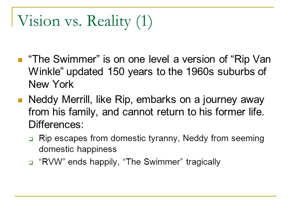 Vision vs.Reality (2) Vision and reality are completely confused in this narrative.