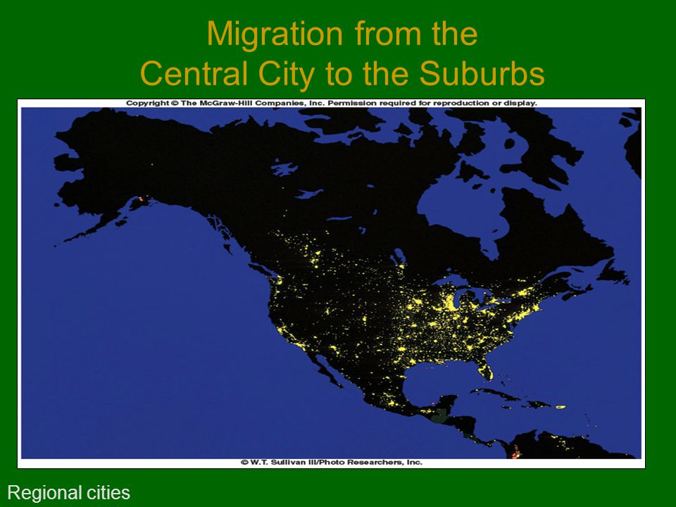 Migration from the Central City to the Suburbs Regional cities