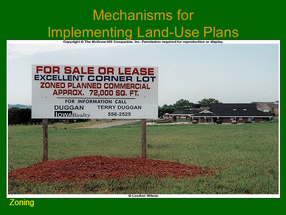 Mechanisms for Implementing Land-Use Plans Zoning