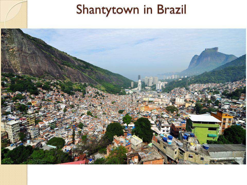 Shantytown in Brazil
