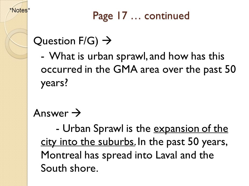 Urbanization & Urban Growth Pages 56-57 A-E Question A  What parts of the world are the most urbanized.