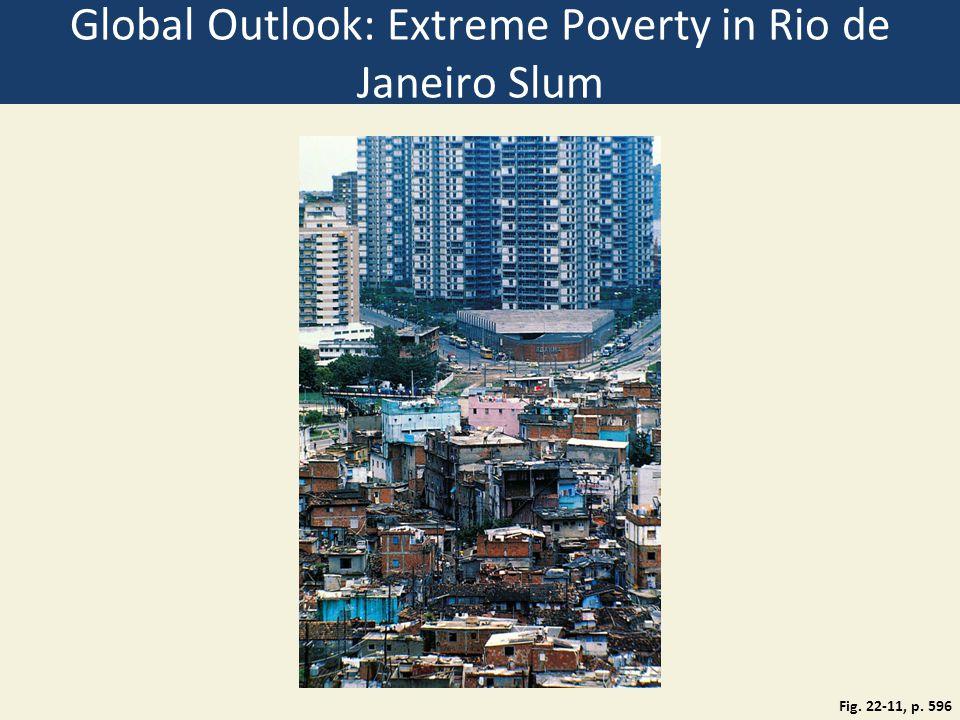 Global Outlook: Extreme Poverty in Rio de Janeiro Slum Fig. 22-11, p. 596