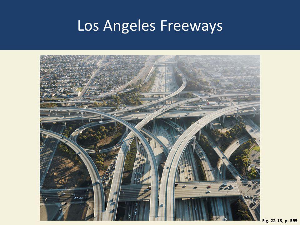 Los Angeles Freeways Fig. 22-13, p. 599