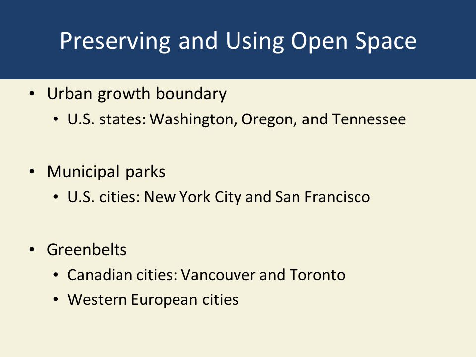 Preserving and Using Open Space Urban growth boundary U.S.