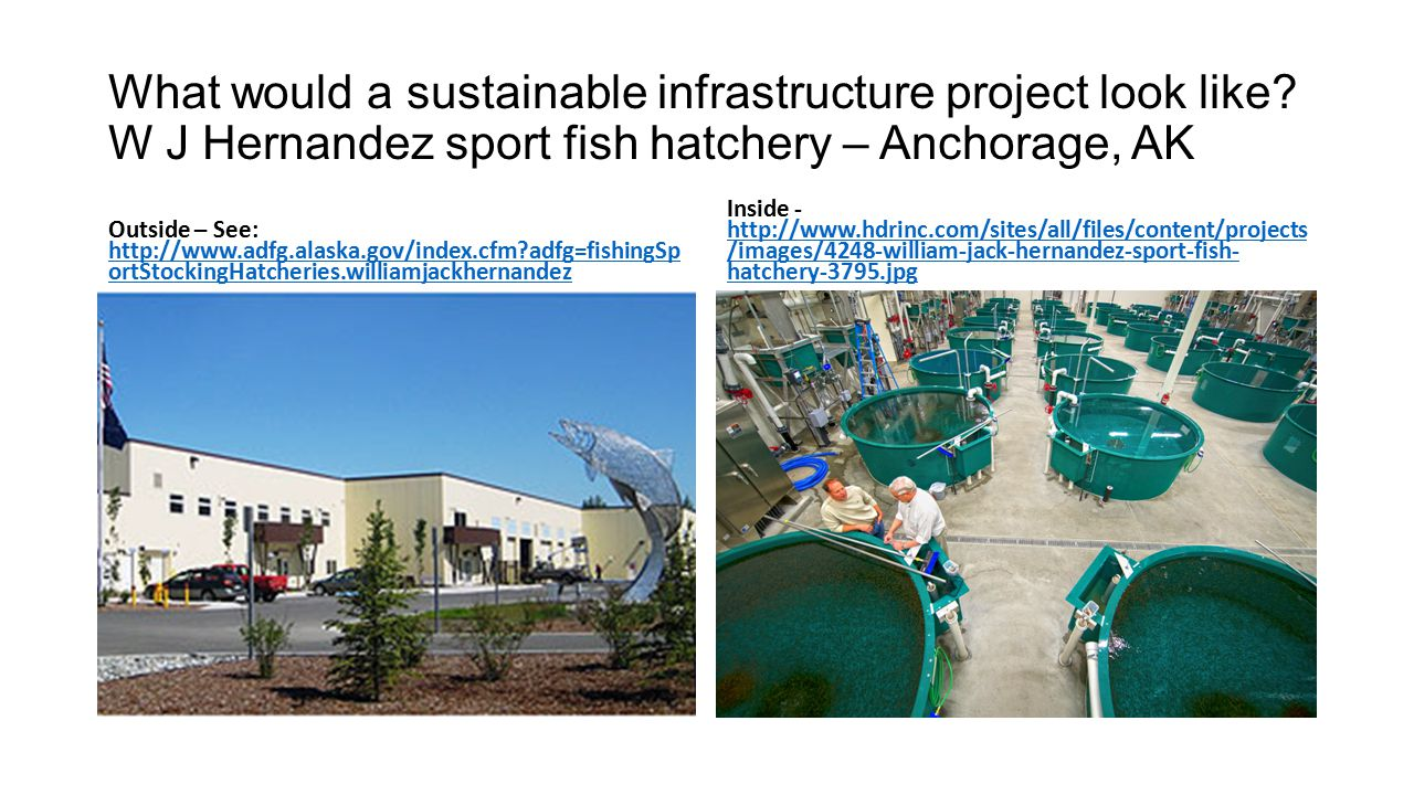 What would a sustainable infrastructure project look like.