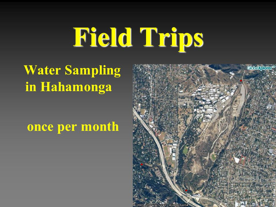 Field Trips Water Sampling in Hahamonga once per month