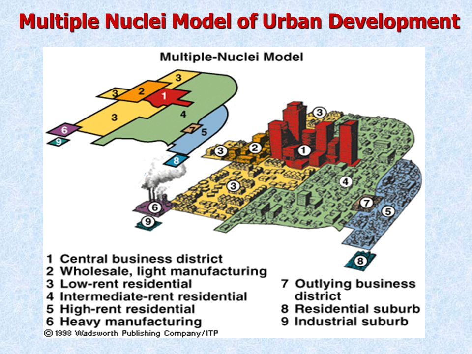 Multiple Nuclei Model of Urban Development