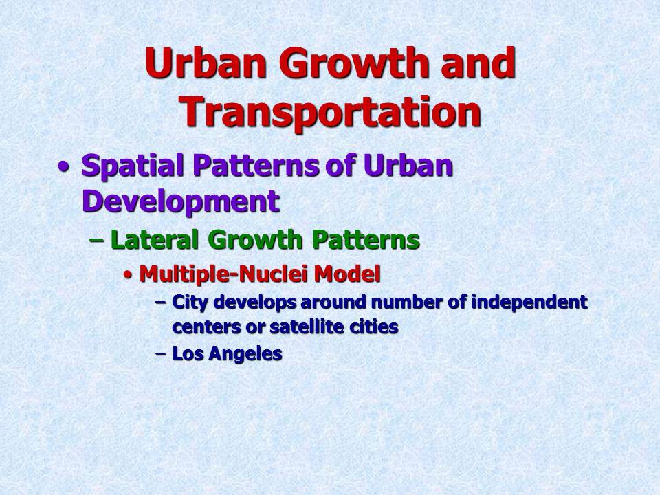 Multiple Nuclei Model of Urban Development