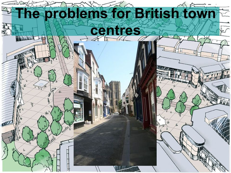 Task Read page 58 from Waugh and note some of the problems faced by traditional town CBD's.