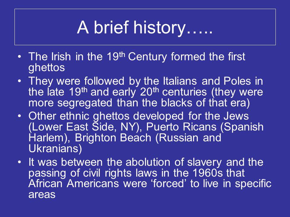 A brief history…..