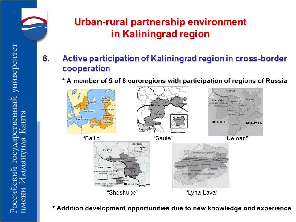 Recommendation for introduction of UR partnership in Kaliningrad region 1.