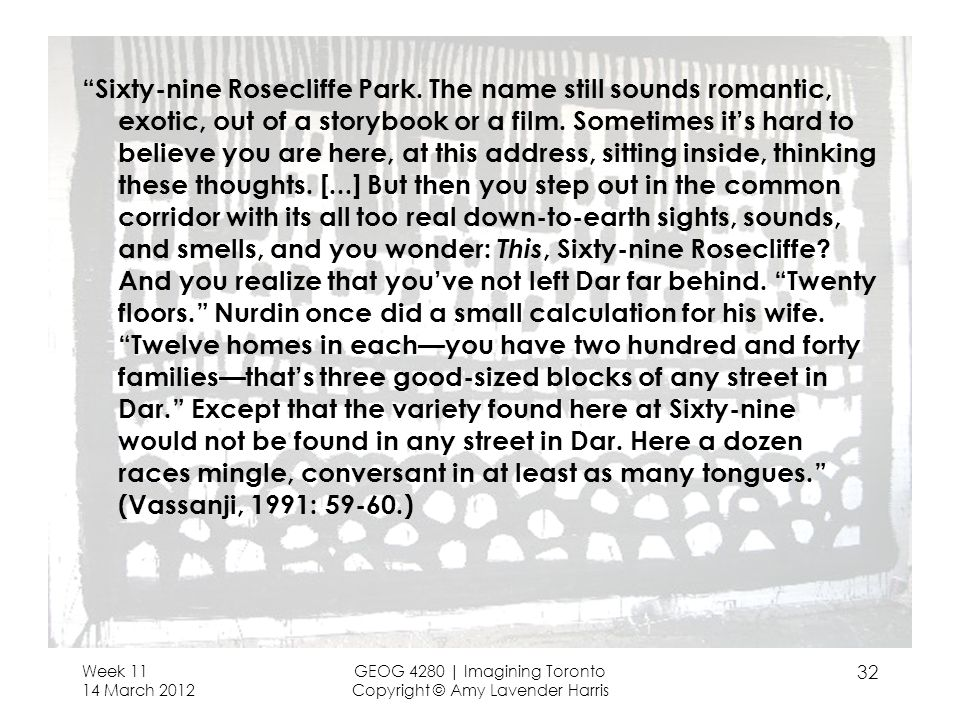 Sixty-nine Rosecliffe Park. The name still sounds romantic, exotic, out of a storybook or a film.