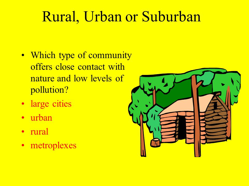 Rural, Urban or Suburban Carbon monoxide is a pollutant that comes from transportation sources such as cars and buses.
