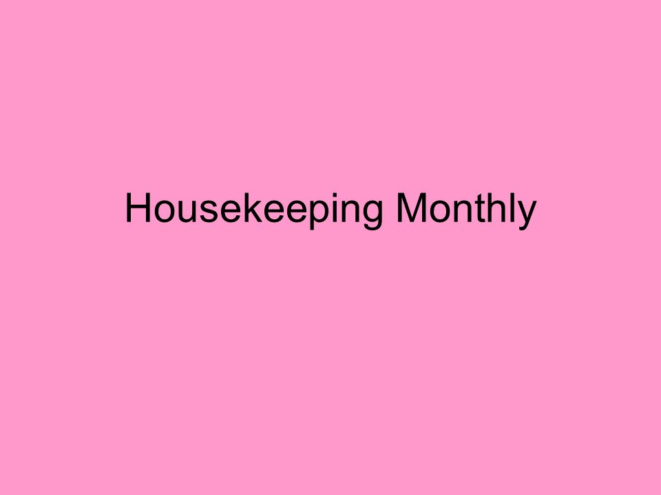 Housekeeping Monthly