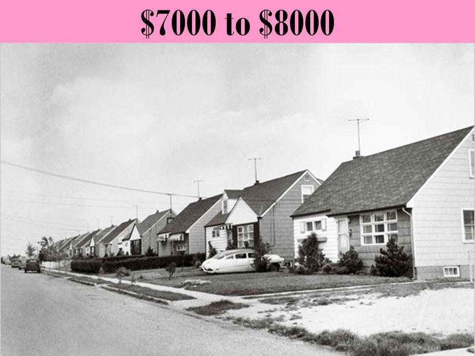 $7000 to $8000