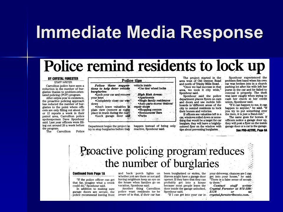 22 Immediate Media Response
