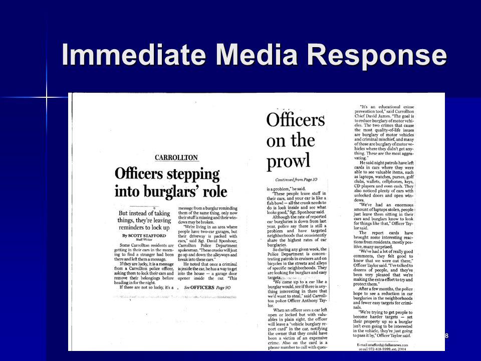 28 Immediate Media Response