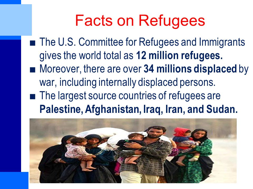 Facts on Refugees ■The U.S.