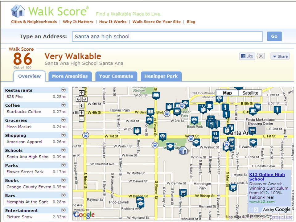 Walk Score (walkscore.com)