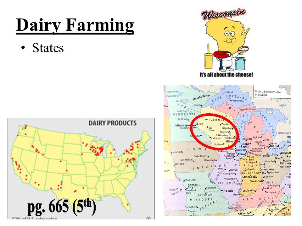 Dairy Farming States